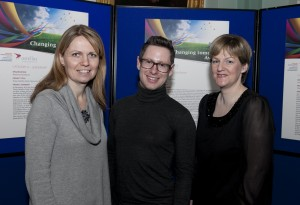L to R: Colina Case, Manager of the Speech & Language Dept.; Brendan Harold, Senior Dietician; and Maria Cleary, Canteen Manager at the Awards Ceremony